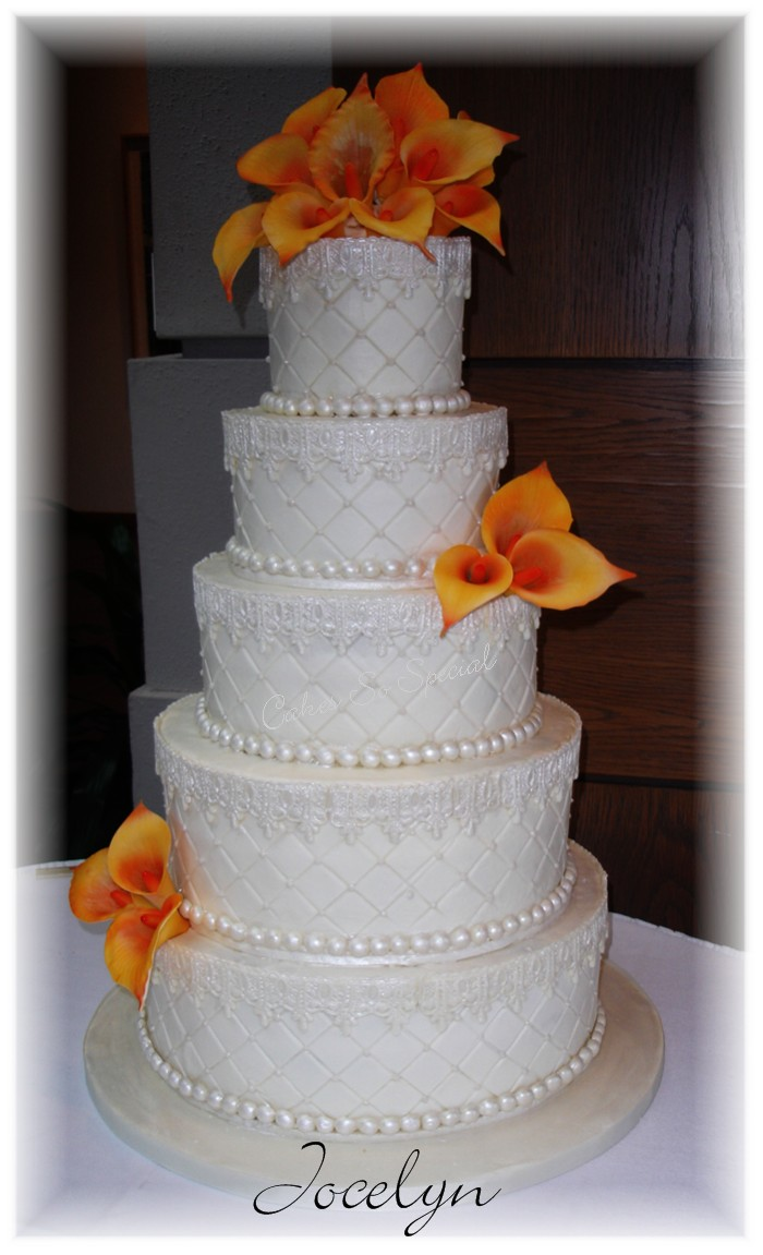 Wedding Cake Lace Calla Lilies